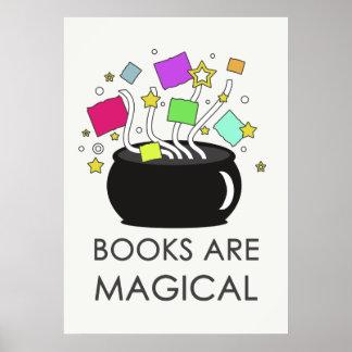Los libros son mágicos (la luz) póster
