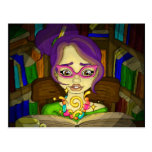 Los libros son mágicos postal
