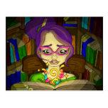 Los libros son mágicos tarjeta postal