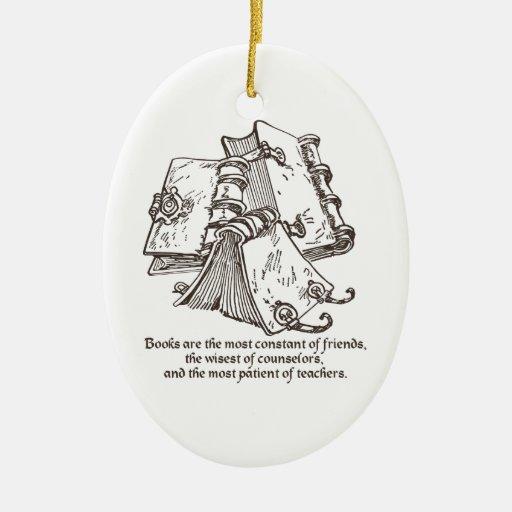 Los libros son ornamento constante ornaments para arbol de navidad