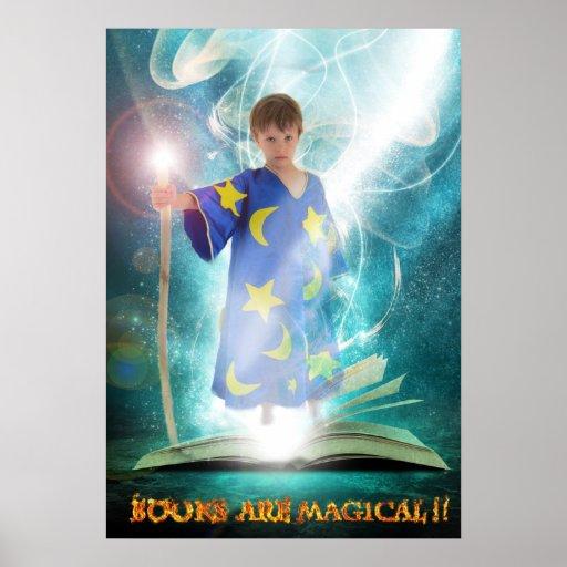 Los libros son poster mágico