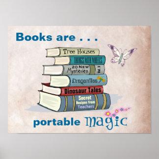Los libros son poster mágico portátil
