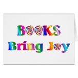 Los libros traen alegría tarjeton