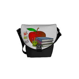 Los libros y Apple del profesor personalizado Bolsas Messenger