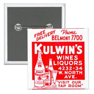 Los licores del vintage del kitsch de Kulwin retro Pins