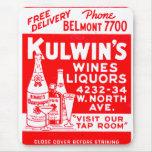 Los licores del vintage del kitsch de Kulwin retro Tapete De Raton