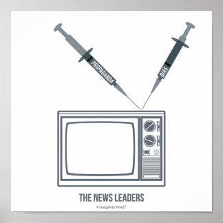 Los líderes de las noticias posters
