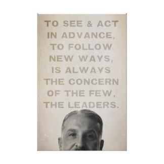 Los líderes de Ludwig von Mises estiraron la impre Lona Envuelta Para Galerías