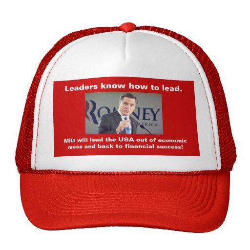 Los líderes de Mitt Romney saben llevar el gorra