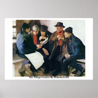 Los líderes del pueblo de Wilhelm Leibl Posters