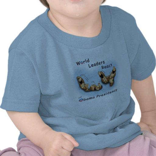 Los líderes mundiales reaccionan (Obama) Camisetas