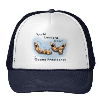 Los líderes mundiales reaccionan (Obama) Gorro De Camionero