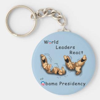 Los líderes mundiales reaccionan (Obama) Llavero Personalizado