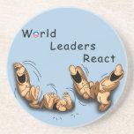 Los líderes mundiales reaccionan (Obama) Posavasos Para Bebidas