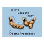 Los líderes mundiales reaccionan (Obama) Postal