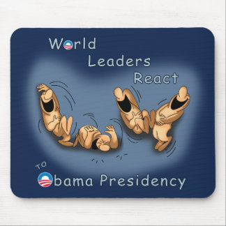 Los líderes mundiales reaccionan (Obama) Tapetes De Ratones
