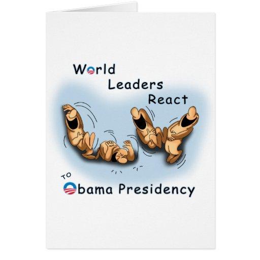 Los líderes mundiales reaccionan (Obama) Tarjeton