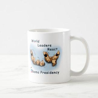 Los líderes mundiales reaccionan (Obama) Taza De Café