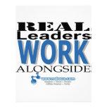 Los líderes reales trabajan al costado membretes personalizados