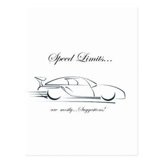 ¡Los límites de velocidad… son sobre todo Postal