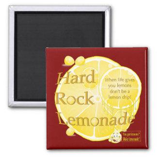 Los limones de la vida y botón cuadrado de la limo imán para frigorífico