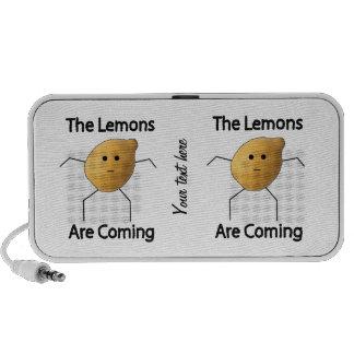 ¡Los limones están viniendo! Sistema Altavoz
