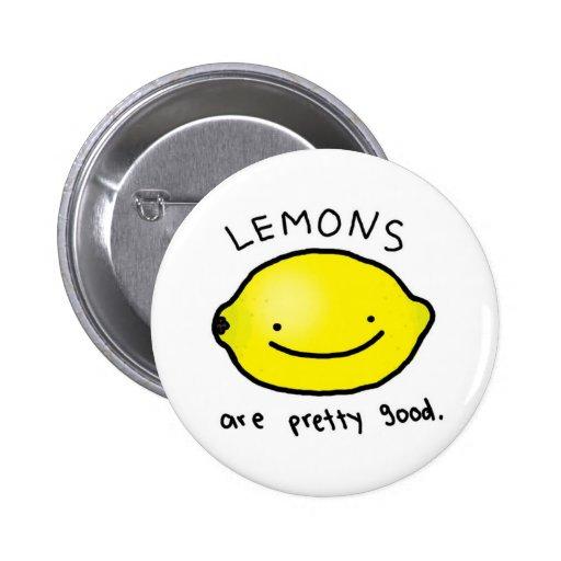 Los limones son buena insignia bonita (el botón) pins