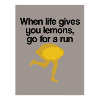 Los limones van funcionamiento postales