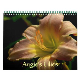 Los lirios de Angie Calendario De Pared