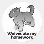 Los lobos comieron mi preparación etiqueta