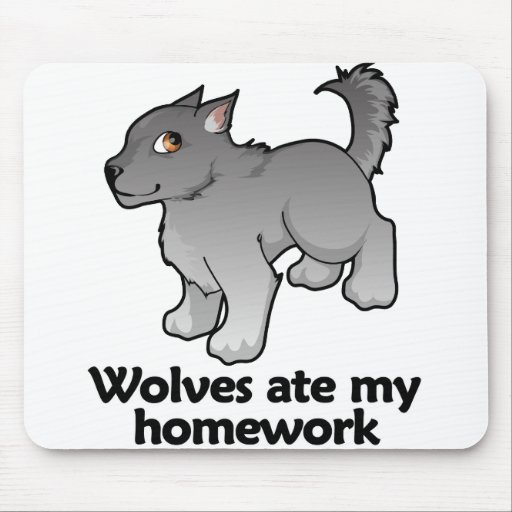 Los lobos comieron mi preparación tapetes de raton