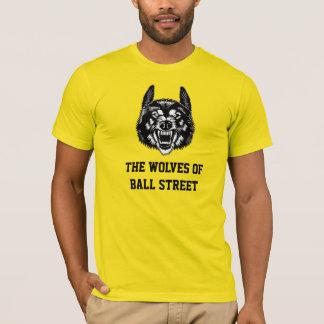Los lobos de la calle de la bola coloreados playera