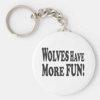¡Los lobos se divierten más! Llavero Redondo Tipo Pin