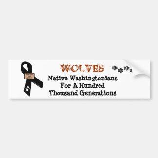 Los lobos son Washingtonians. nativos Pegatina Para Auto