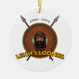 Los locos de Leigh Adorno Navideño Redondo De Cerámica