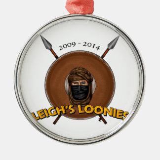 Los locos de Leigh Adorno Redondo Plateado