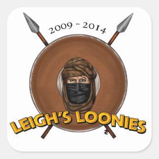 Los locos de Leigh Pegatina Cuadrada