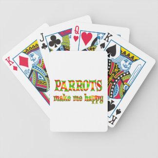 Los loros me hacen feliz barajas de cartas