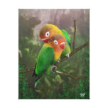 Los Lovebirds de Fischer Impresión En Lona Estirada