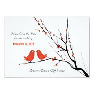 Los Lovebirds del escarlata ahorran la invitación