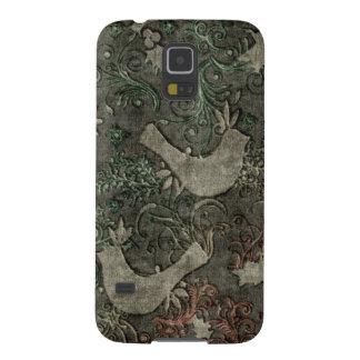 Los LoveBirds del vintage grabaron en relieve nexo Fundas Para Galaxy S5
