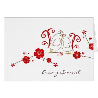 Los Lovebirds le agradecen las tarjetas/Tarjetas d Tarjeta Pequeña