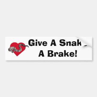 ¡los loverattlers, dan un freno de SnakeA! Pegatina Para Auto