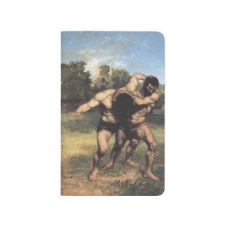 Los luchadores de Gustave Courbet
