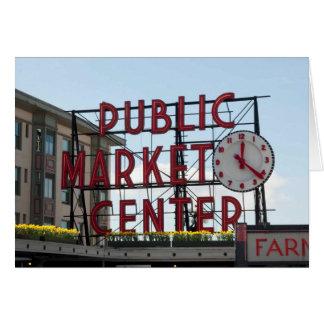 Los lucios comercializan en Seattle, WA Tarjeta De Felicitación