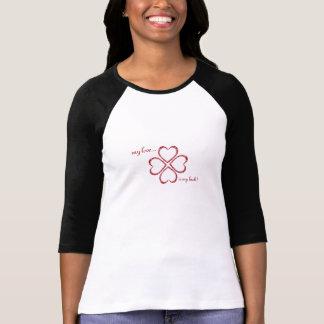 ¡los lucky_loves, mi amor…, son mi suerte! camisetas