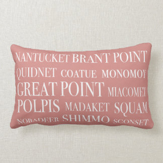 Los lugares de Nantucket se descoloraron beige y b Almohada