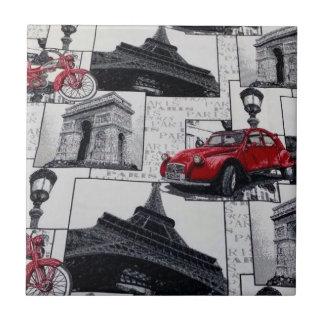 Los lugares famosos de Francia diseñan la teja