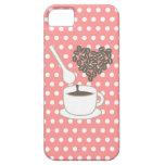 Los lunares blancos I aman iPhone rosado del café  iPhone 5 Case-Mate Funda