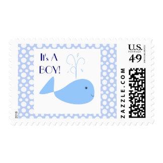 Los lunares blancos lindos de la ballena azul es u sello